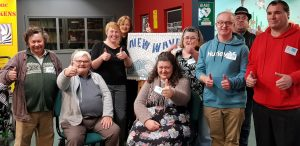 Intellectual Disability Community committee members all doing thumbs up