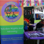 Picture of Rainbow Rights Self Advocacy Group stand at an event