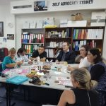 Picture of the Self Advocacy Group Sydney during a Meeting