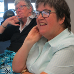 Picture of Self Advocacy Western Australia committee members listening to a talk