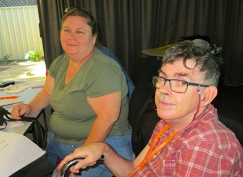 picture of a couple of Self Advocacy Western Australia committee members