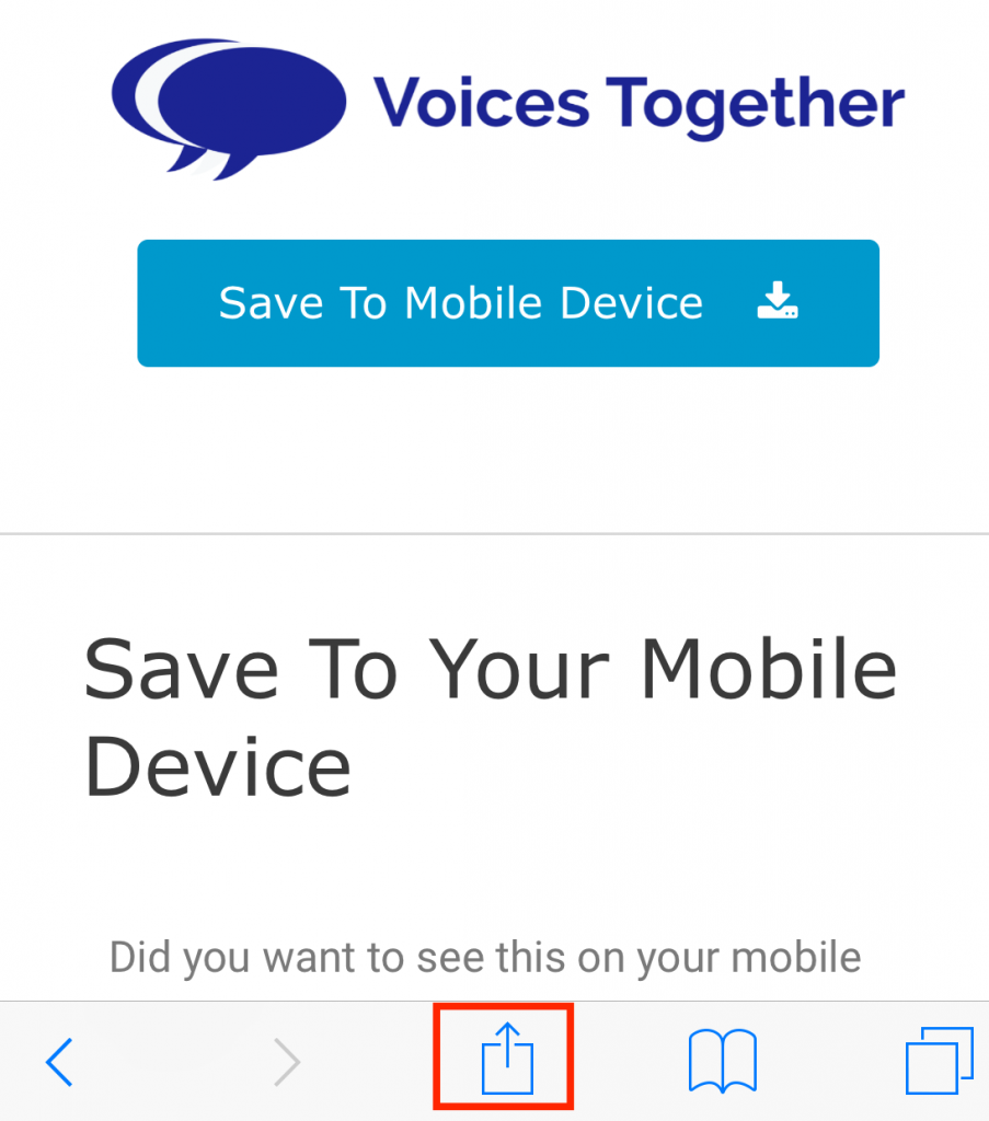 How to add Voices Together to your iPhone step 1