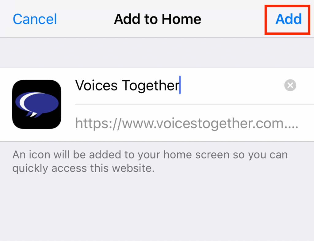 How to add Voices Together to your iPhone step 3