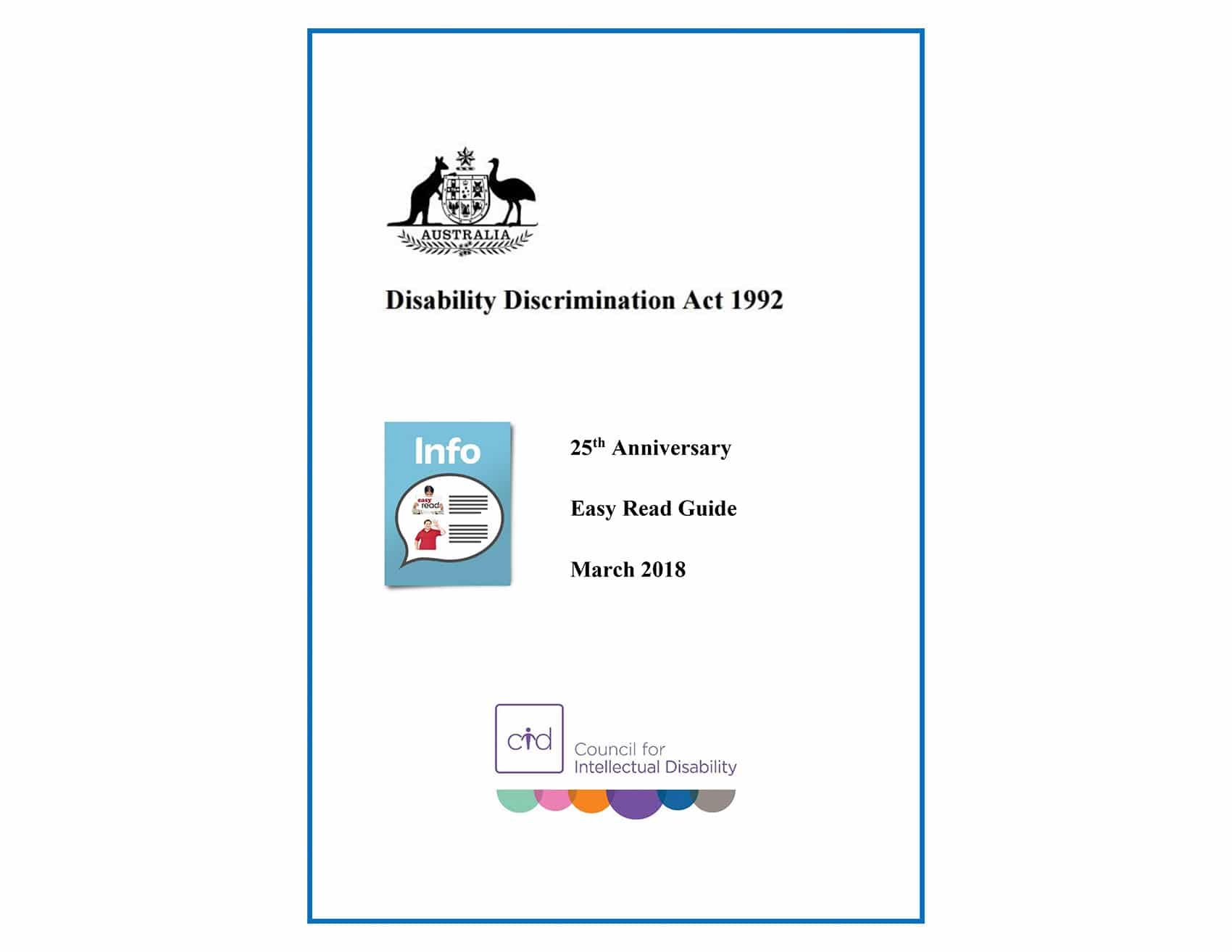 Button for Disability Discrimination Act Easy Read