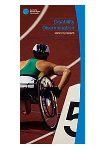 Button image for the Disability Discrimination Act Brochure
