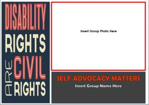 Button for the Disability rights are civil rights posters
