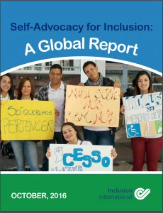 Button for Global Report Self Advocacy for Inclusion