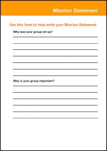 Image for the Good Groups Tool Kits- Mission Statement Form document