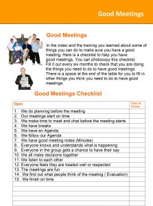 Image for the Good Meetings Checklist document