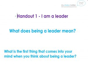 Image for Handouts becoming a leader