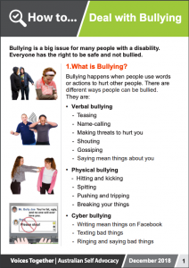 Image for the how to deal with Bullying brochure