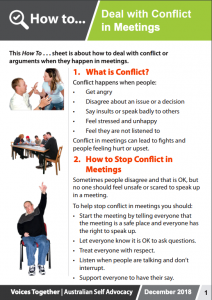 Image of the How to Deal with Conflict in Meetings brochure