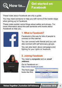 Image for the How to - Get started on Facebook brochure