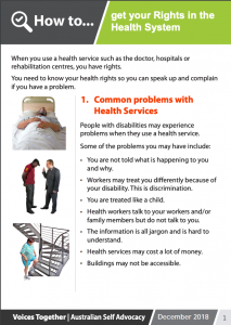 Image for the how to Get your Health Rights brochure