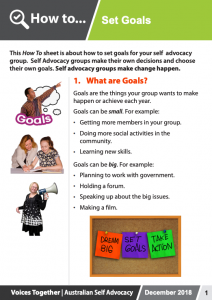Image for the How to - Set Goals brochure