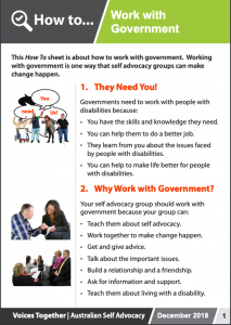 Image for the How to - Work with Government brochure