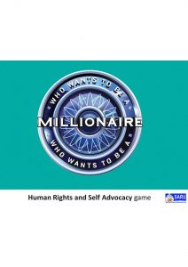 Button for the Human Rights Self Advocacy Game
