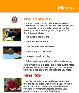 Image for the Minutes Tip Sheet document