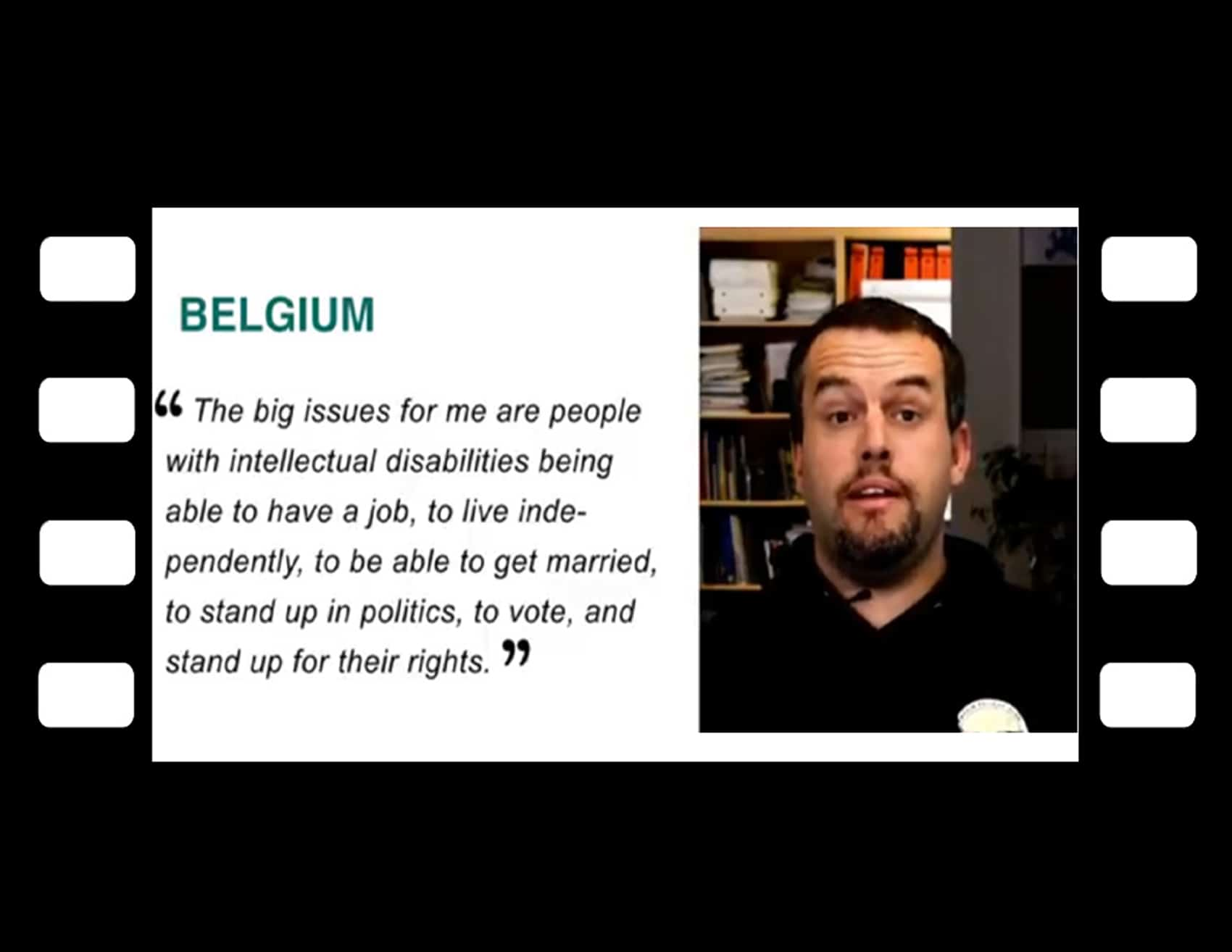 Button for Self Advocacy around the world Videos