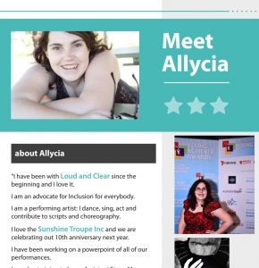 Button for Self advocacy resources - our stories - Allycia