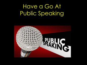 Image for Public Speaking training