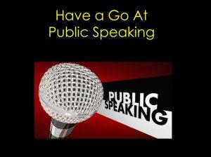 Image for Public Speaking training