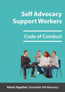 Button for support workers - code of conduct