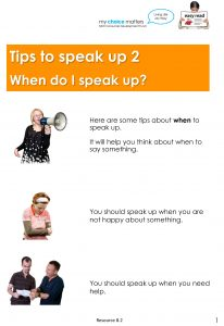 Button for Tip sheet Speaking up 2
