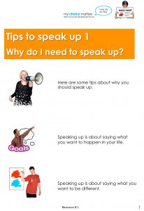 Button for Tip sheet Speaking up 1