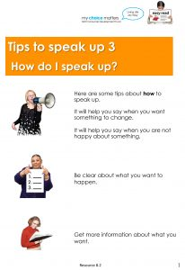 Button for Tip sheet Speaking up 3