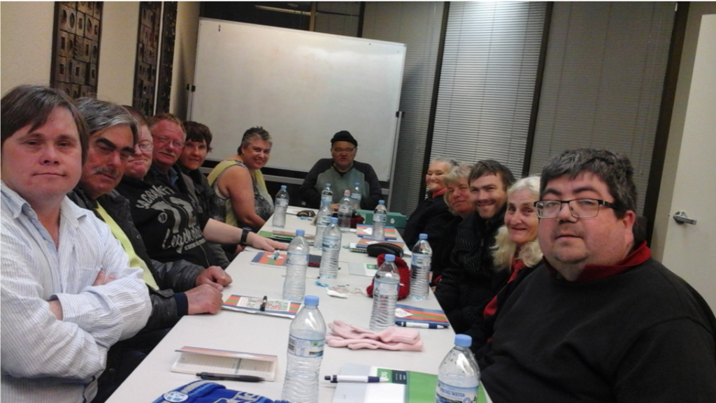 Picture of committee members from Wagga Wagga Self Advocacy Support Group committee