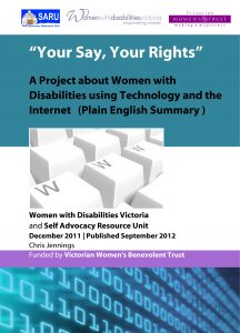 Image for Your Say Your Rights Report (Plain English)