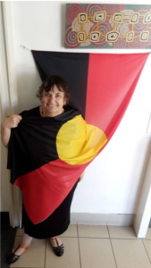 atsi committee member Jane Rosengrave aboriginal flag