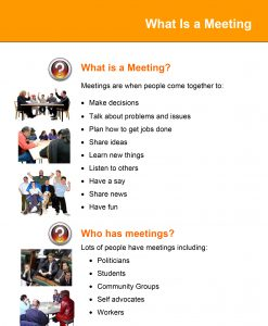 Image for What Is a Meeting tip sheet document