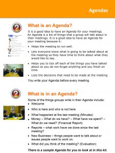 Image for the What is an Agenda Tip Sheet document