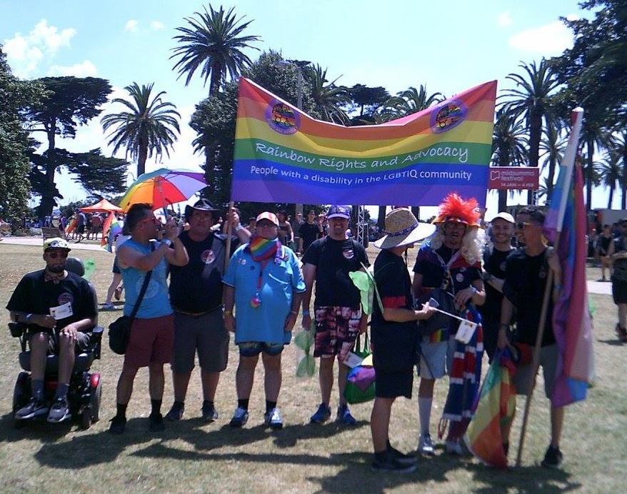rainbow rights committee members in park