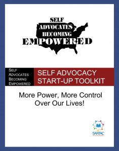 Button for self advocacy start up kit