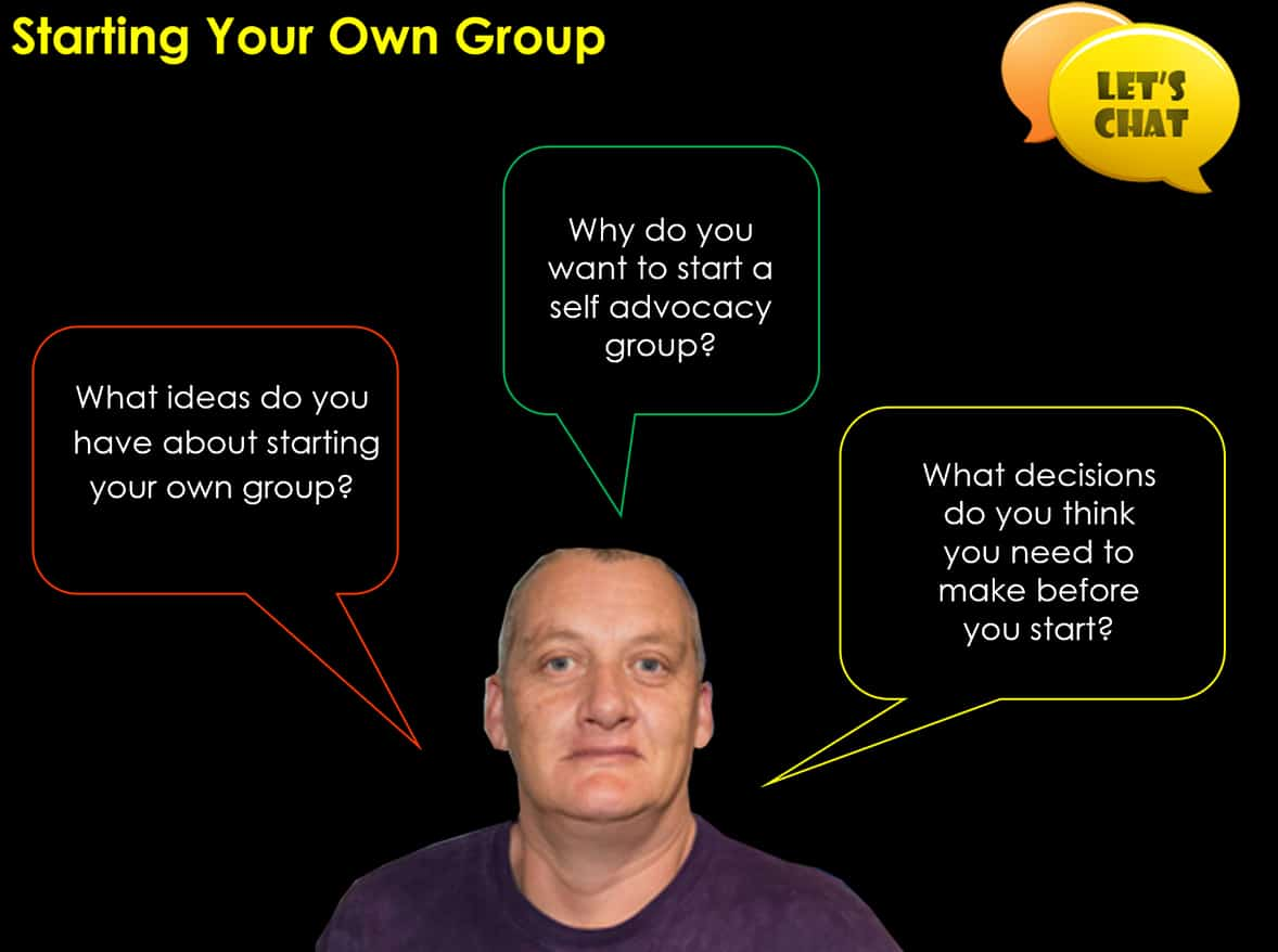 Image for setting up a new group - setting up a self advocacy group
