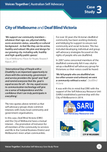 Case Study City of Melbourne and Deaf Blind Victoria
