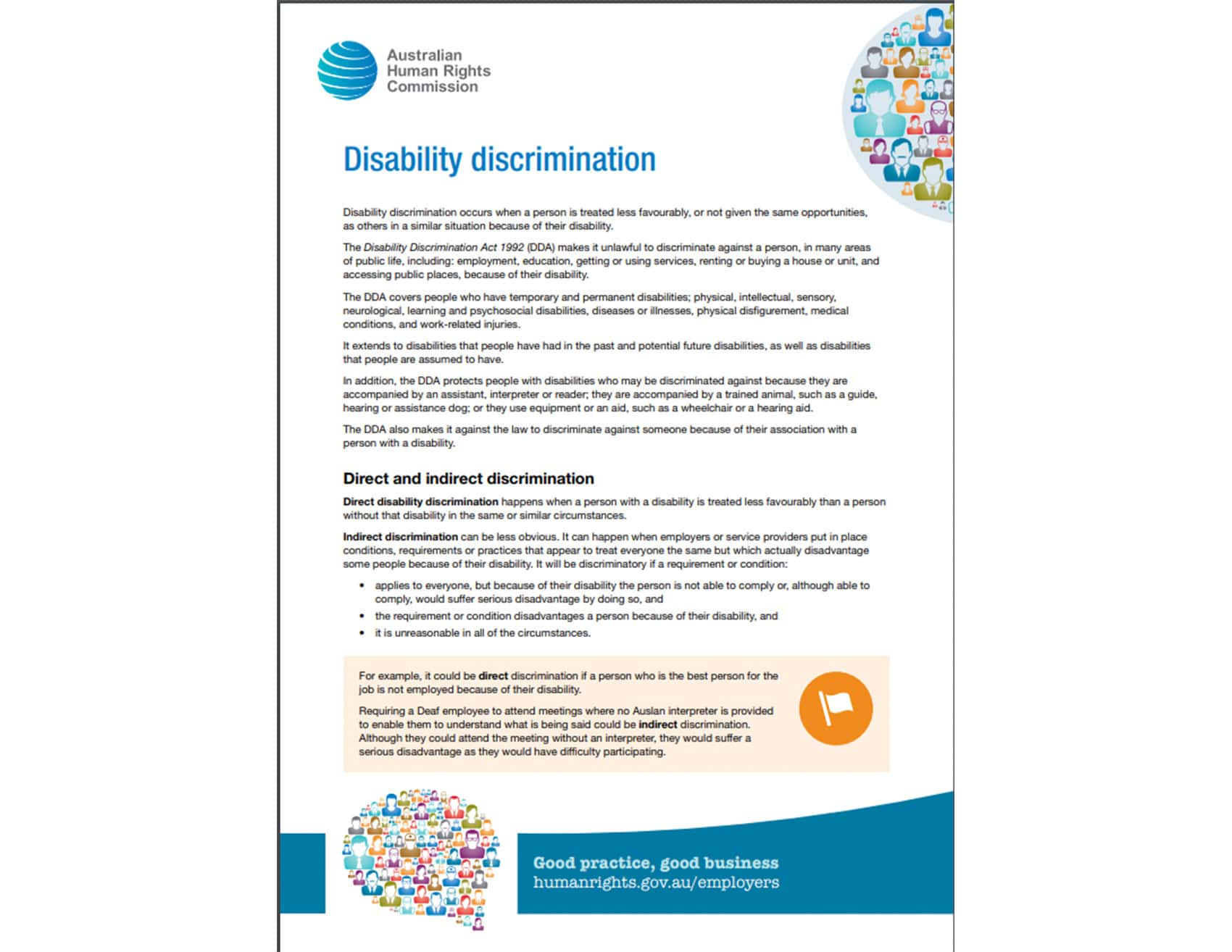 Button for Disability Discrimination Act
