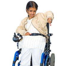 Girl in wheelchair