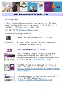 NDIS Resources and Information Links pic