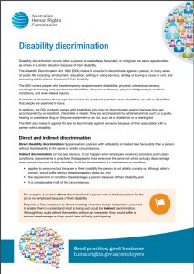 Image for disability Discrimination act